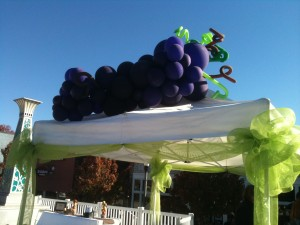 "Balloon sculpture ""Grapes"" for Decatur Wine Festival."