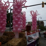 Balloon columns, Pride float